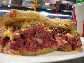 Corn beef Reuben sandwich: Photo by Michaela Den